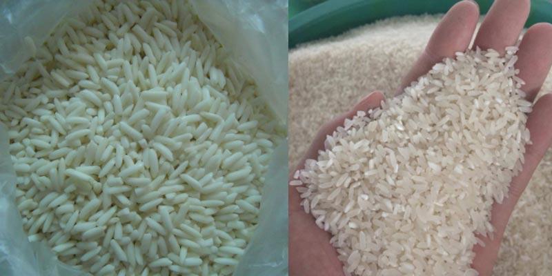 Thường thì người ta căn cứ vào độ dẻo và kết dính của gạo sau khi nấu chín để phân biệt được đâu là gạo nếp và đâu là gạo tẻ
