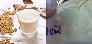 Nhận biết sữa đậu nành thật và sữa chứa hóa chất độc hại