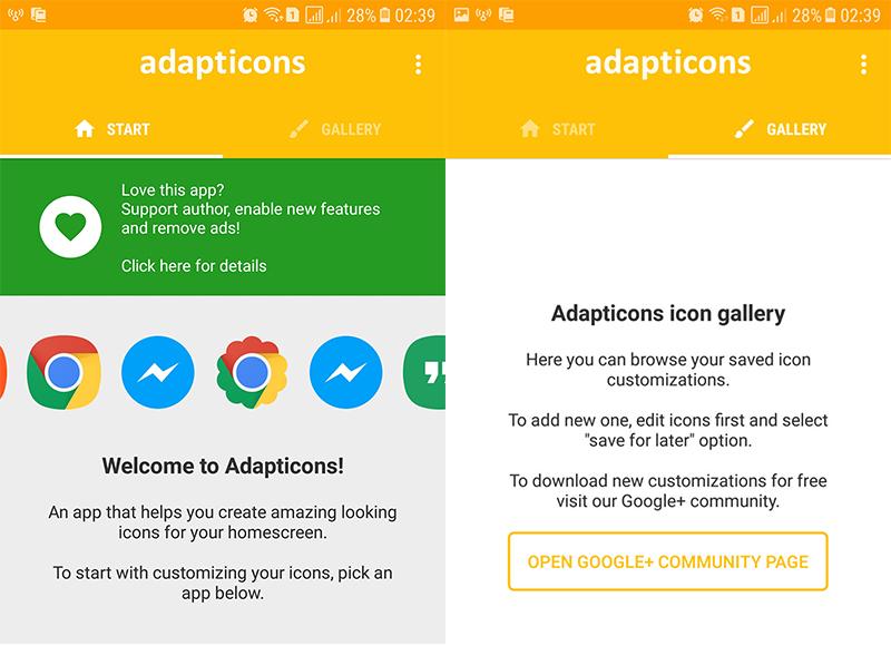 ứng dụng adapticons
