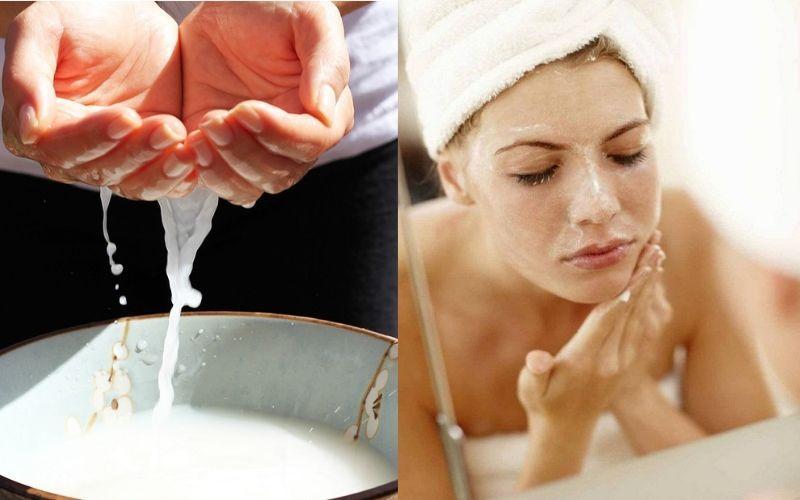 Cách rửa mặt bằng sữa tươi giúp trắng da, mịn màng như spa