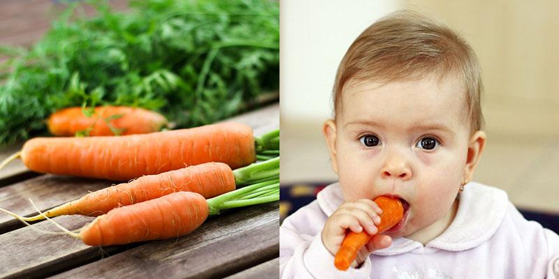 Cà rốt giúp giảm đau khi mọc răng