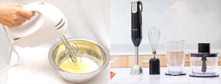 Nên mua máy đánh trứng hay máy xay cầm tay để làm bánh?