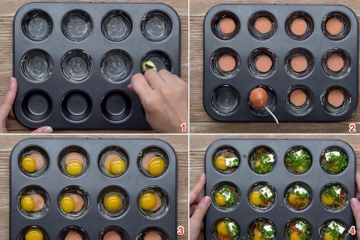 Bước 1 Chuẩn bị nguyên liệu Bánh trứng cút nướng