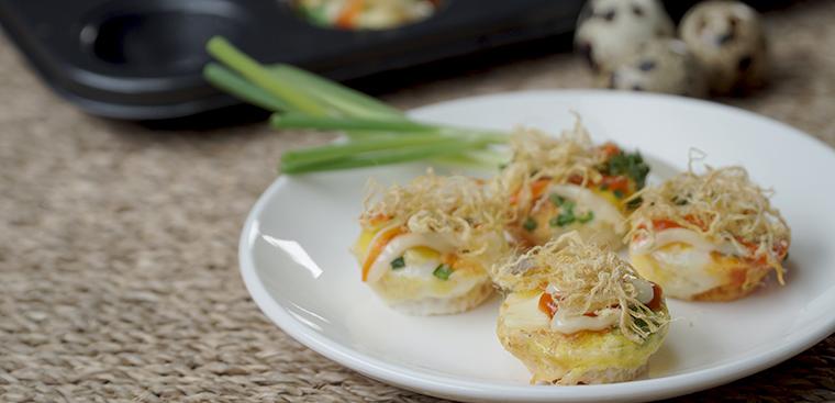 Bước 3 Thành phẩm Bánh trứng cút nướng