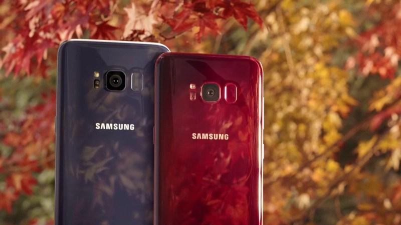 Samsung Galaxy S8 màu đỏ tía chính thức lên kệ tại Hàn Quốc.