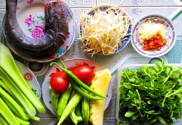 Nguyên liệu nấu canh chua cá lóc chuẩn nhất
