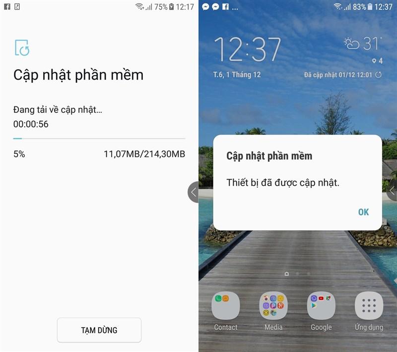 Galaxy J7 Prime tại Việt Nam nhận được bản cập nhật mới