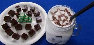 Cách làm thạch Milo Cube uống trà sữa siêu ngon