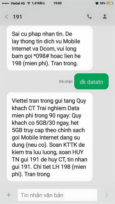 Nhận 15GB data 4G tốc độ cao Viettel hoàn toàn miễn phí