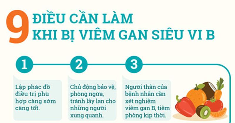 9 điều cần làm khi bị viêm gan B