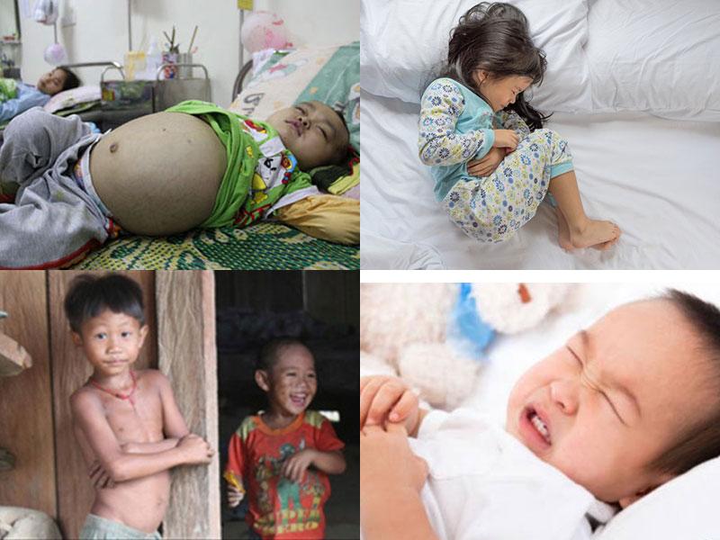 Triệu chứng nhiễm giun sán ở trẻ em