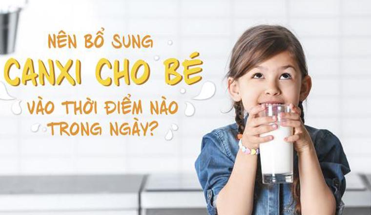 Thời điểm vàng cho bé uống canxi giúp bé tăng trưởng chiều cao