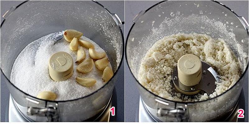 Xay hỗn hợp muối tỏi