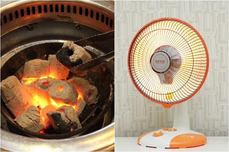 Nên dùng than hay quạt sưởi để sưởi ấm?