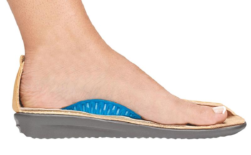 Mang giày có hỗ trợ vòm. Không mang giày cao gót.