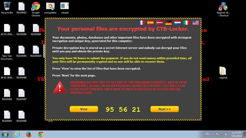 tấn công bằng ransomware