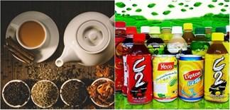So sánh trà và nước trà đóng chai