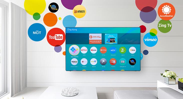 Smart tivi với kho ứng dụng giải trí đa dạng