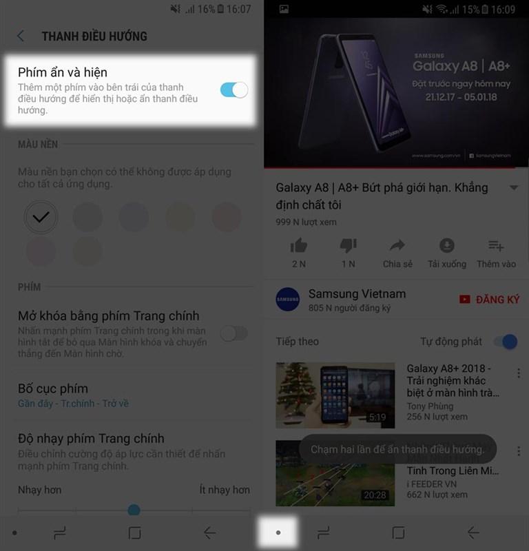 Mẹo tùy chỉnh phím Điều hướng trên máy Samsung xài tiện hơn