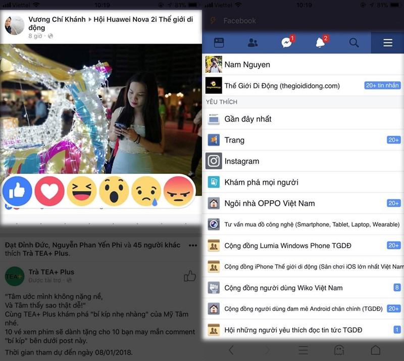 facebook không mess