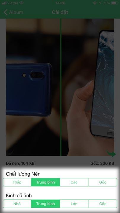 nén ảnh iphone