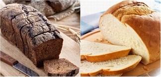 Giống và khác nhau giữa bánh mì đen và bánh mì trắng