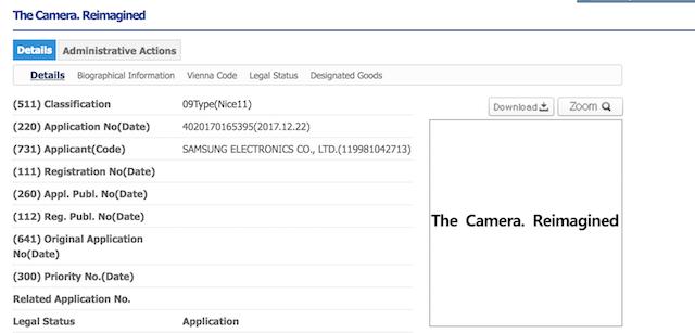 Đơn đăng ký thương hiệu mới cho camera-phone của Samsung