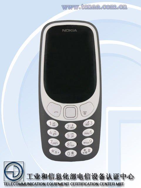 Hình ảnh Nokia 3310 bản 4G trên TENAA