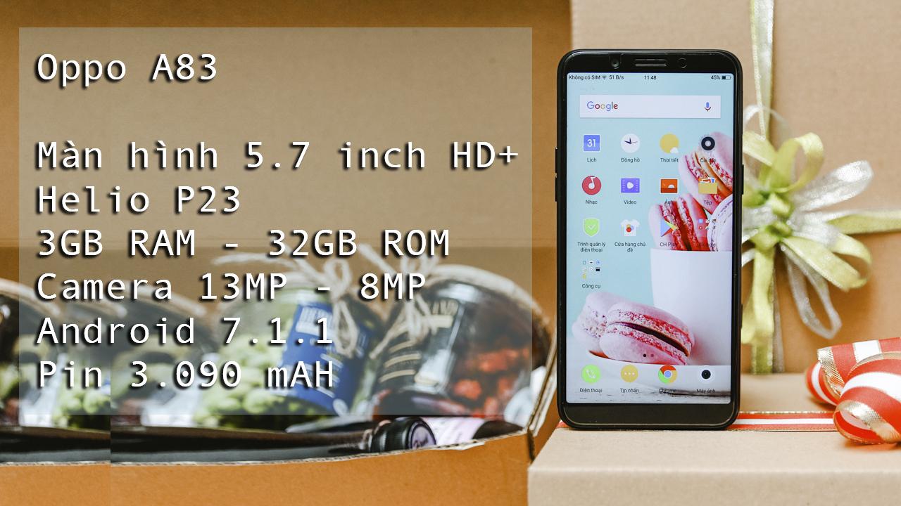 Trên tay Oppo A83