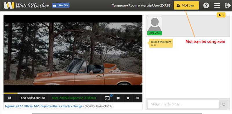 Cách xem Youtube, phim online với bạn bè ở xa cùng một lúc