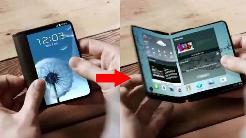 Smartphone màn hình gập được Samsung bí mật trưng bày tại CES 2018 - ảnh 1