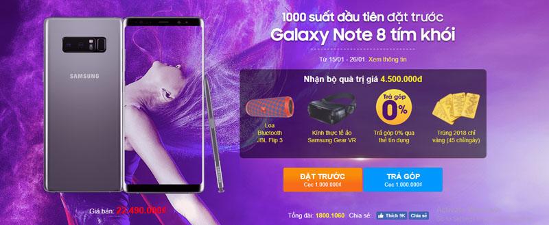 Khuyến mại Galaxy Note 8
