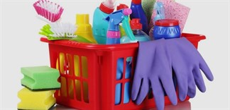 5 mẹo bảo quản đồ vệ sinh nhà cửa gọn gàng, tiện dụng