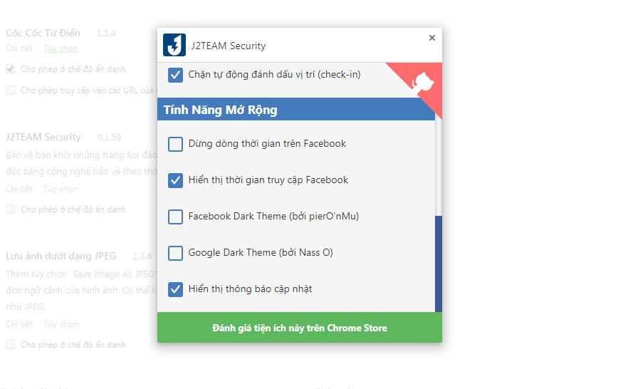 J2TEAM Security: Tiện ích bảo mật phải có khi sử dụng Chrome