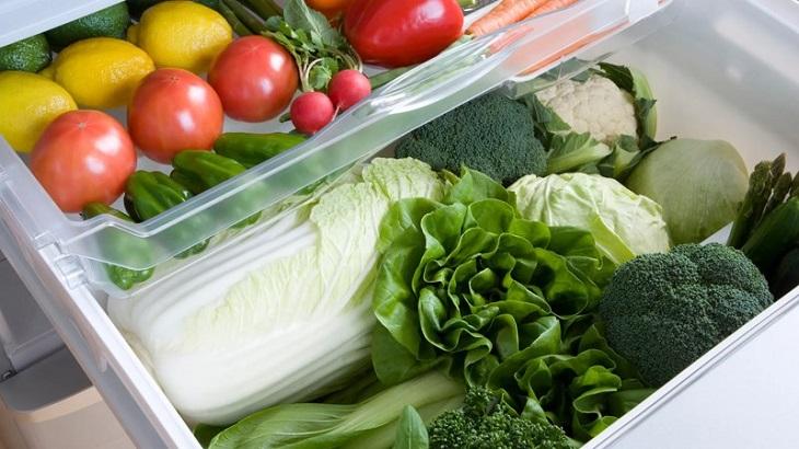 Cách sắp xếp thực phẩm ở phần hộc tủ lạnh
