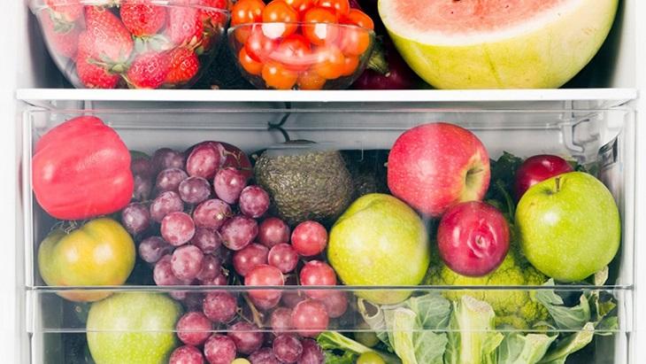 Lưu ý khi bảo quản trái cây và rau củ trong tủ lạnh