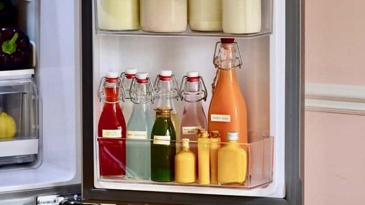 Cách sắp xếp thực phẩm ở cánh cửa tủ lạnh