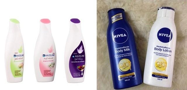 Nên dùng sữa dưỡng thể Hazeline hay Nivea