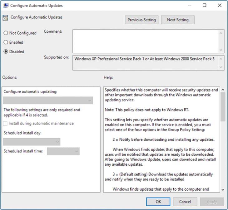 Configure Automatic Update