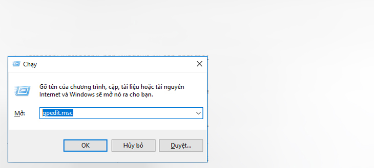 Tắt update Windows 10 bằng Group Policy Editor