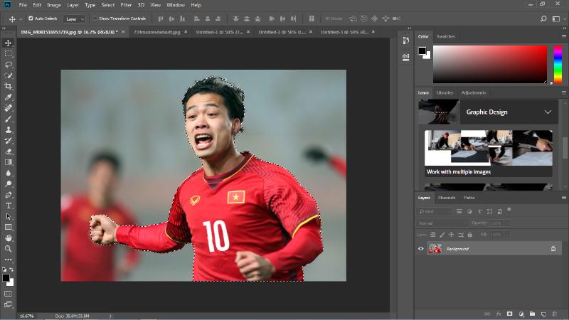 Hướng dẫn tách người ra khỏi hình ảnh trên Photoshop