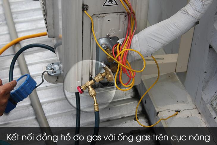 Kết nối đồng hồ đo gas với ống gas