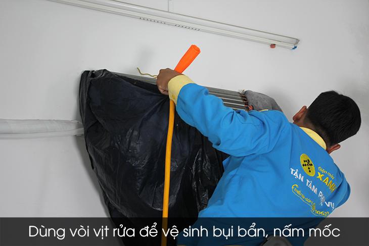 Xịt rửa vệ sinh cục lạnh