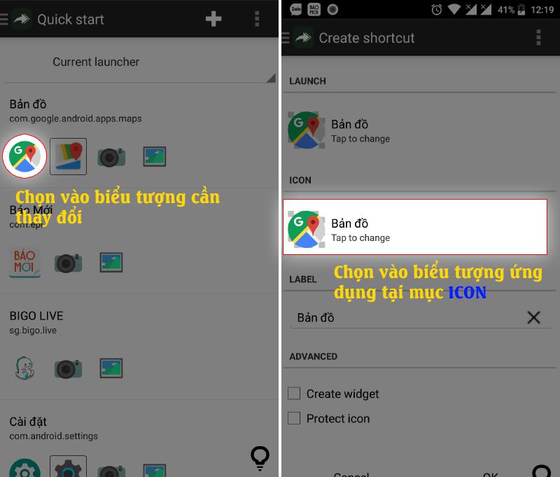 Awesome icon: Thay Đổi biểu tượng ứng dụng Android Đơn giản, gọn lẹ