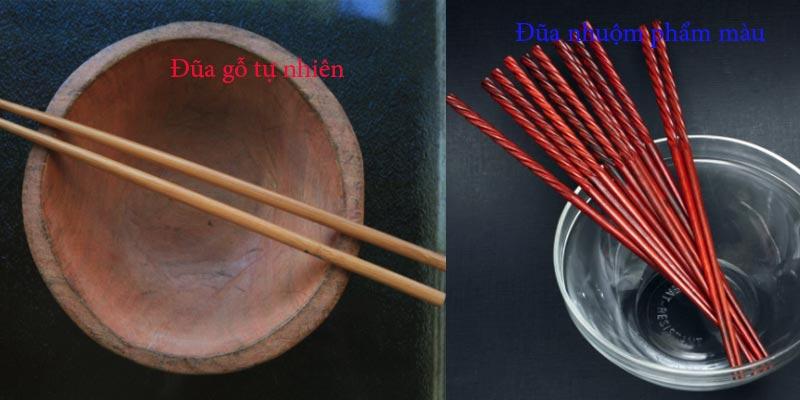Mẹo phân biệt đũa gỗ tự nhiên và đũa nhuộm phẩm màu, tẩy trắng