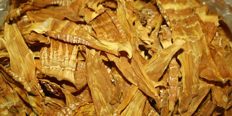 Măng khô cần được xử lý kỹ trước khi chế biến món ăn