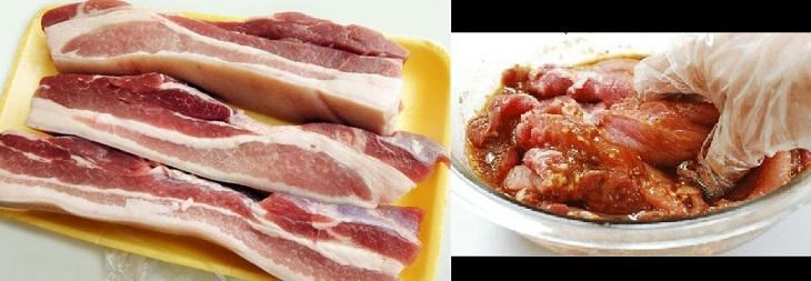 Bước 1 Ướp thịt Thịt nướng xá xíu