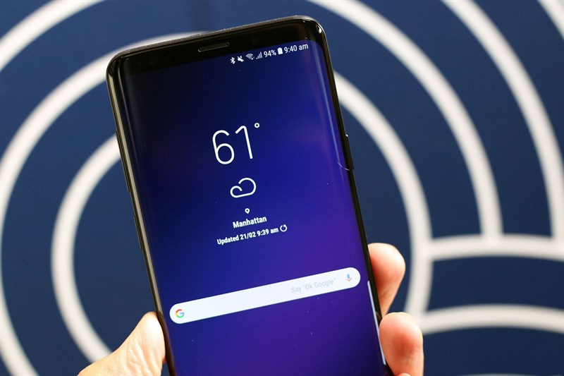 Giao diện Android của điện thoại Samsung Galaxy S9