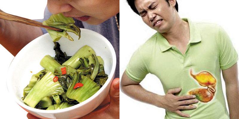 Ăn nhiều dưa muối bị đau dạ dày