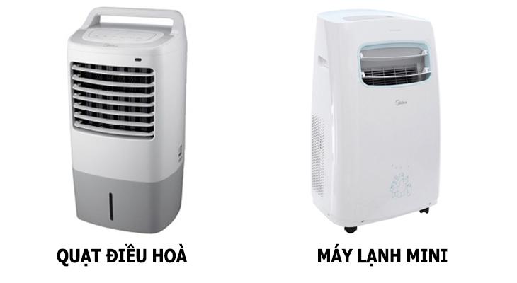 Máy lạnh mini di động và quạt điều hoà có gì khác?